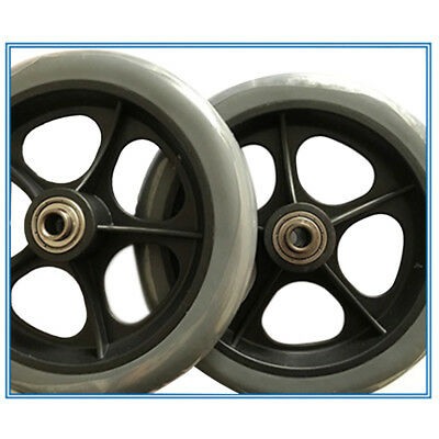 Gray Wheelchair Wheels Wheel chair Front Castor Tool 8 Inch 1 Pair Brand New