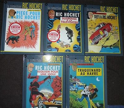 Lot De 5 La Collection Ric Hochet Traquenard Au Havre Défi A Ric Hochet - Ttbe