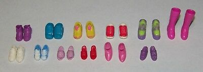 Polly Pocket Mix Lot 12 Pair of Boy & Girl Doll Shoes