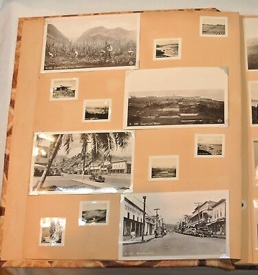Vintage HAWAII SCRAPBOOK Real Photo Postcards Snapshots Photographs 1950s