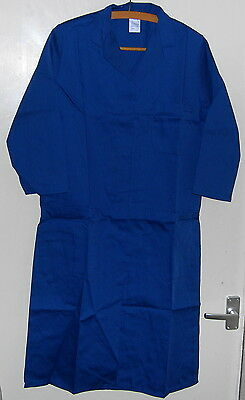 Womens workwear lab coat gown coverall medical hygiene food catering Small 92cm