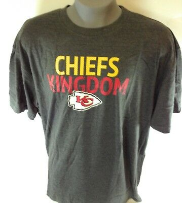 68b87daf NEW MENS MAJESTIC Kansas City Chiefs Kingdom Charcoal Big & Tall NFL Tee  T-Shirt