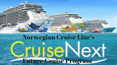 NCL NORWEGIAN CRUISE LINE $165 for a CruiseNext $250 Deposit Certificate