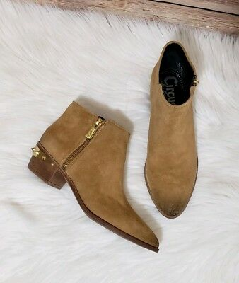 0cab6529ffa23 Circus by Sam Edelman Women s Holt Leather Almond Toe Ankle Boots Size 8M