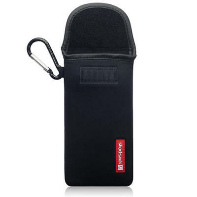 Shocksock Neoprene Pouch Case with Carabiner for Samsung Galaxy S10 - Black