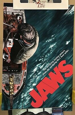 Sam Gilbey Jaws movie art poster AP S/N x/25 Universal Gibley mondo the shark