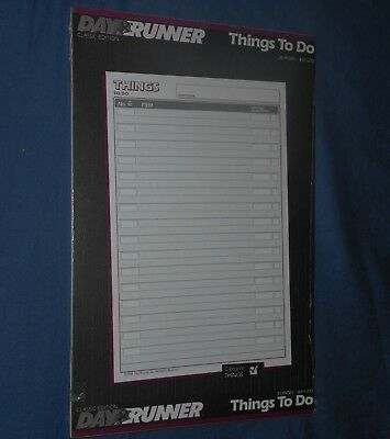 """NEW sealed Day Runner - Things To Do - P/N 011-232 - three ring 5.5"""" X 8.5"""""""