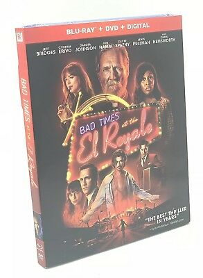 Bad Times at the El Royale (Blu-ray+DVD+Digital, 2019) NEW w/ Slipcover