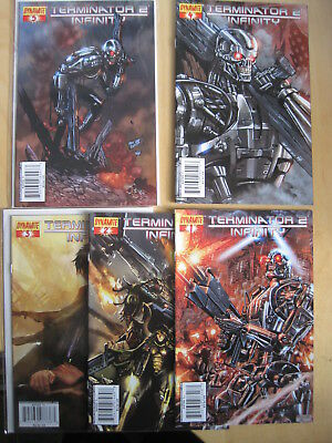 TERMINATOR 2 : INFINITY. COMPLETE 5 ISSUE 2007 DYNAMITE SERIES by FURMAN, RAYNOR