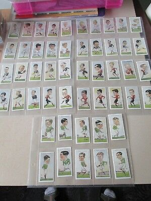 Reproduction Set of WD & HO Wills Rugby Internationals Complete set of 50 1996