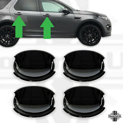 Door Handle scuff plate cover for Discovery Sport gloss black trim bowl L550
