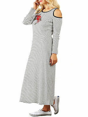 ST@ Funfash Women Plus Size White Black Red Rose Long Maxi Dress New Made in USA