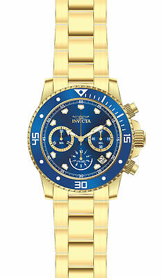 Invicta Pro Diver Chronograph Blue Dial Yellow Gold-plated Men's Watch 21894