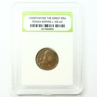Slabbed Ancient Roman Constantine the Great Coin c330 AD Exact Coin Shown st1638