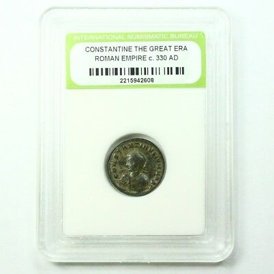 Slabbed Ancient Roman Constantine the Great Coin c330 AD Exact Coin Shown st1624