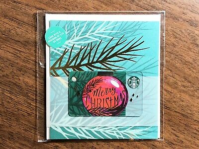 "Starbucks Gift Card 2018 NEW ""Merry Christmas"" Greeting Mini Holiday No $ Value"