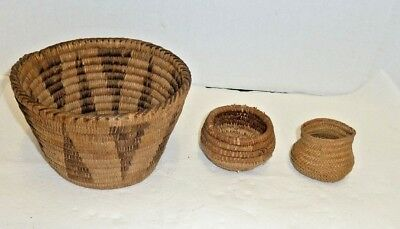 Lot 3 Antique Native American  Baskets