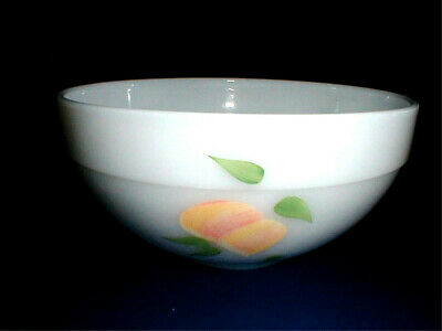 "Anchor Hocking Fire King Colonial Kitchen Gay Fad Fruit 7-3/8"" Mixing Bowl"