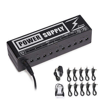 Donner 10 Isolated Output 9/12/18V Electric Guitar Effects Pedals Power Supply