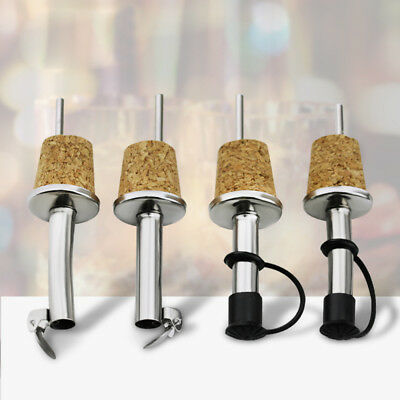 1/3PC Wood Cork Red Wine Pourer Oil Beer Bottle Stopper Plug With Cover Kitchen~