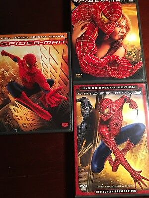 Spider-Man (DVD, 2002, 2-Disc Set, Special Edition Full Frame)+ Spider-Man 2,3