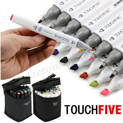 30 Color Touch Five Alcohol Graphic Art Twin Tip Pen Marker Broad Fine Point HOT