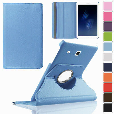 Rotating Stand Leather Smart Case For Samsung Galaxy Tab E S3 8.0 9.6 9.7 Tablet