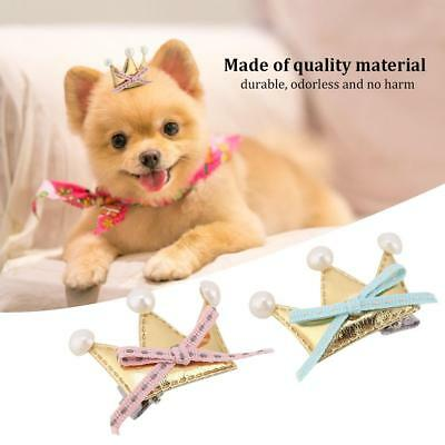 20 pcs Pet Dog Crown Design Cat Accessories Grooming Hair Bows Dogs Hairpins