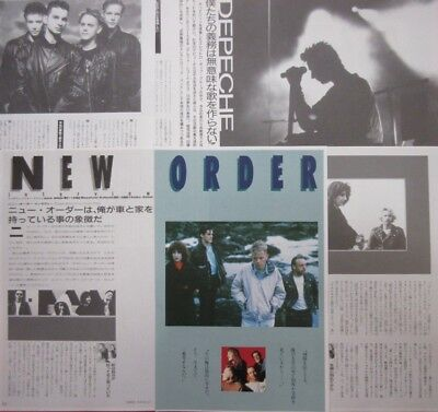 DEPECHE MODE Dave Gahan Martin Gore NEW ORDER 1989 CLIPPING JAPAN FM E8 10PAGE