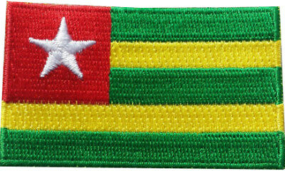 South Sudan Flag 9cm x 6.5cm Patch Embroidered Sew or Iron on Badge