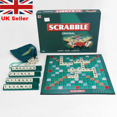 Scrabble Board Game Family Kids Adult Educational Toys Puzzle Game Toy Gifts UK