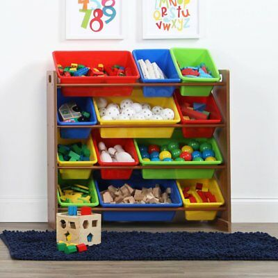 Tot Tutors Forever Super Sized Kids Toy Storage Organizer With 16