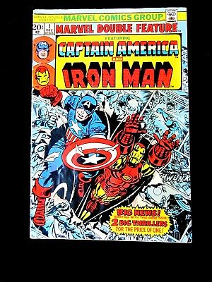 Captain America And Iron Man.  #1 1973. Marvel Double Feature. Vg/fn (5.0)