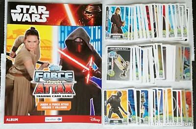Album Star Wars: Topps Force Attax Tradding cards game + 120 cromos + Completo