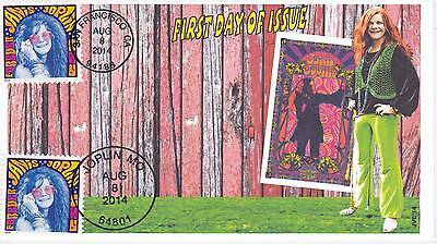 Jvc Cachets - 2014 Janis Joplin First Day Cover Fdc Topic Music Woodstock #1