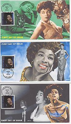 Jvc Cachets-2016 Sarah Vaughan Issue First Day Cover Black Heritage Set Of 3