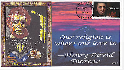 Jvc Cachets - 2017 Henry David Thoreau First Day Cover Fdc L.e. Of 20 Style #3