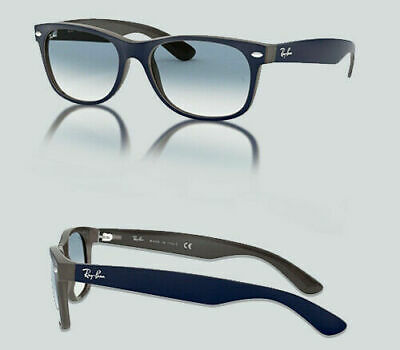 7881b602d7 Authentic Ray Ban RB 2132 New Wayfarer 63083F MATTE BLUE OPAL BROWN  Sunglasses