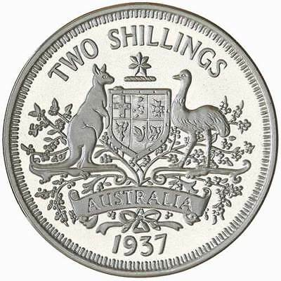 AUSTRALIA Edward VIII Fantasy Florin coin Sterling Silver Proof by R. Maklouf