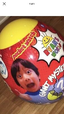 Ryan's World Yellow Giant Mystery Egg Toy Ultra Rare Hot Surprise Youtube Slime