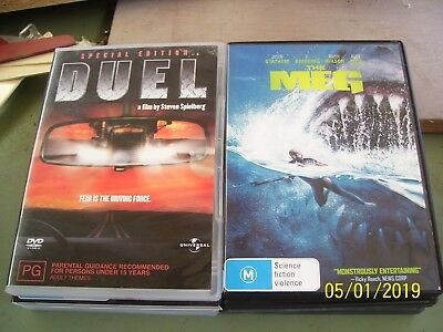 The Meg Rated M -  Duel Rated Pg.   Both Region 4
