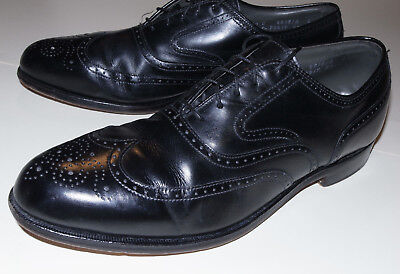 3fa7199492bf7 Men s Footjoy Classics Black Leather Wingtip Dress Shoes oxfords made In  Usa 10C