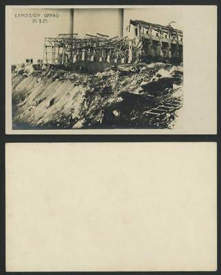 Oppau Explosion 21.9. 1921 Old RP Postcard Ammonia Disaster Ludwigshafen Germany