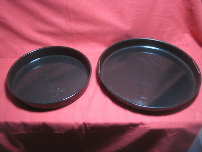 "Set 2 NuWave Pro Infrared Oven Drip Pans Trays Replacement Part 13"" 10"" Clean"