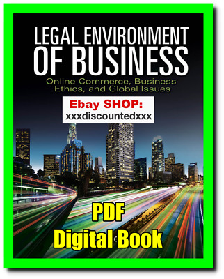 EB00K - Legal Environment of Business 8th Edition by Henry Cheeseman PDF