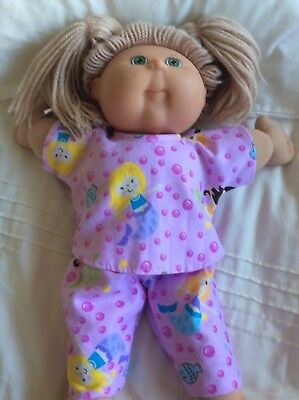 """DOLLS CLOTHES fit 16"""" CABBAGE PATCH DOLL - Pyjamas. Pink  Mermaids"""