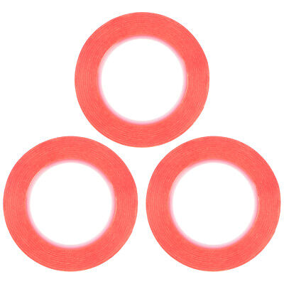 3x Two Sided Adhesive Sticker Red Liner w/ Long Term Temperature Resistance