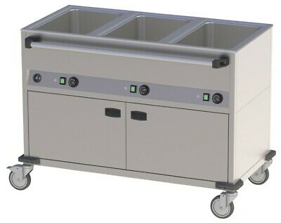 Bain Marie Wagon, 1250x700x900 mm, with Base Unit, Food Warmer Water Bath