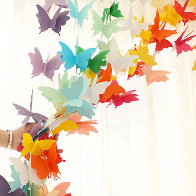 Color Butterfly Wedding Bunting Banner Photo Props Party Hanging Home Decor Xmas