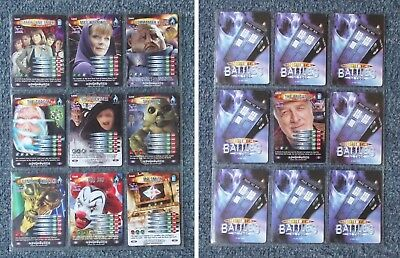 Dr Who Battles in Time ADVENTURER Set of 10 Cards Sarah Jane Adventures VGC SJA